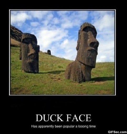 duck-face