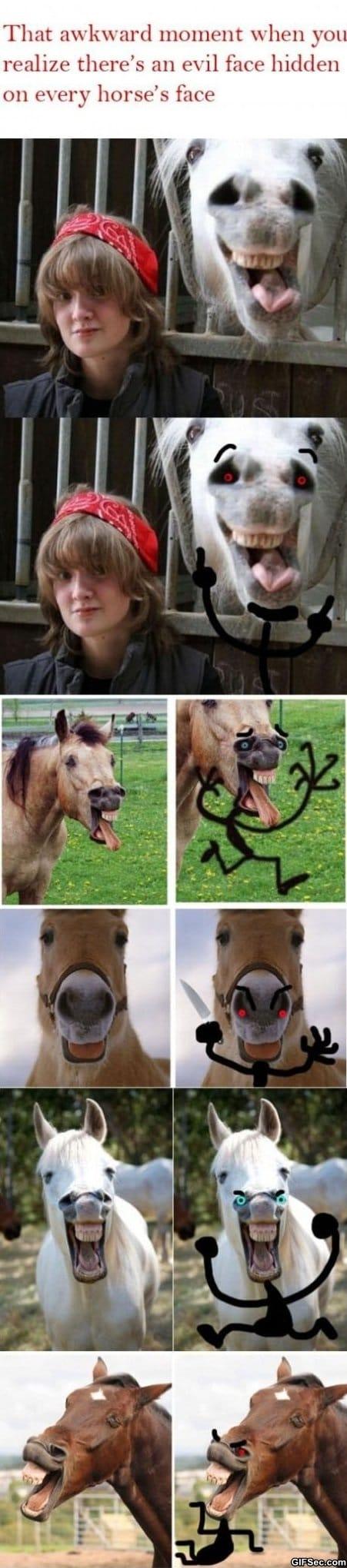 evil-horse-faces