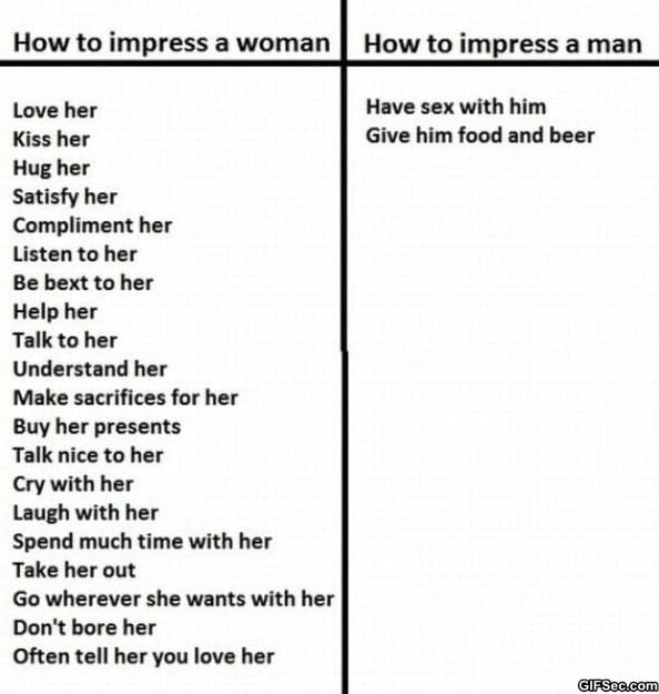 how-to-impress-a-woman-vs-how-to-impress-a-man