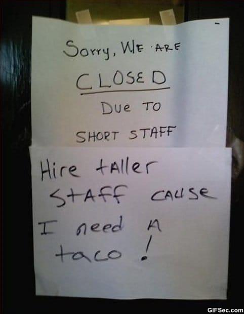 short-staff