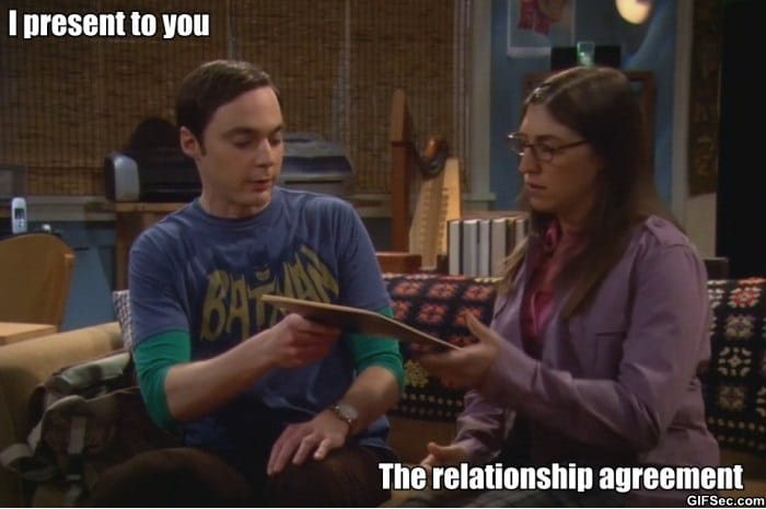 Funny Memes About Bad Relationships : Sheldon relationship agreement viral videos