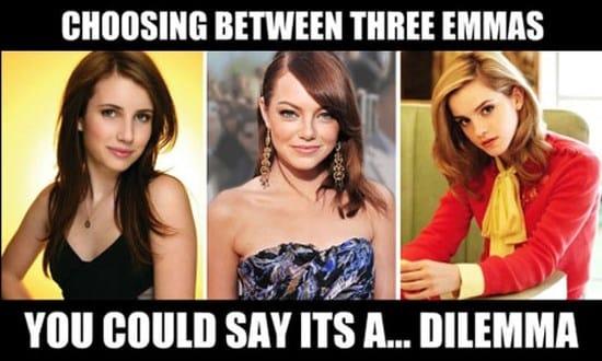 Choosing between three Emmas
