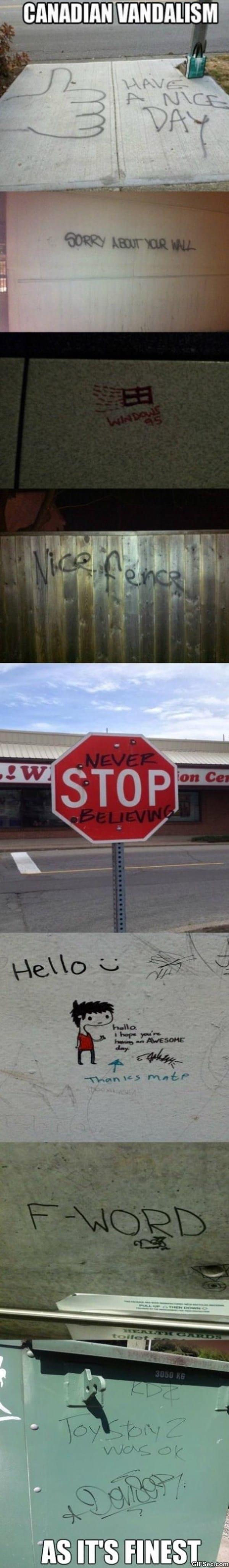 Funny Canadian Vandalism MEMES