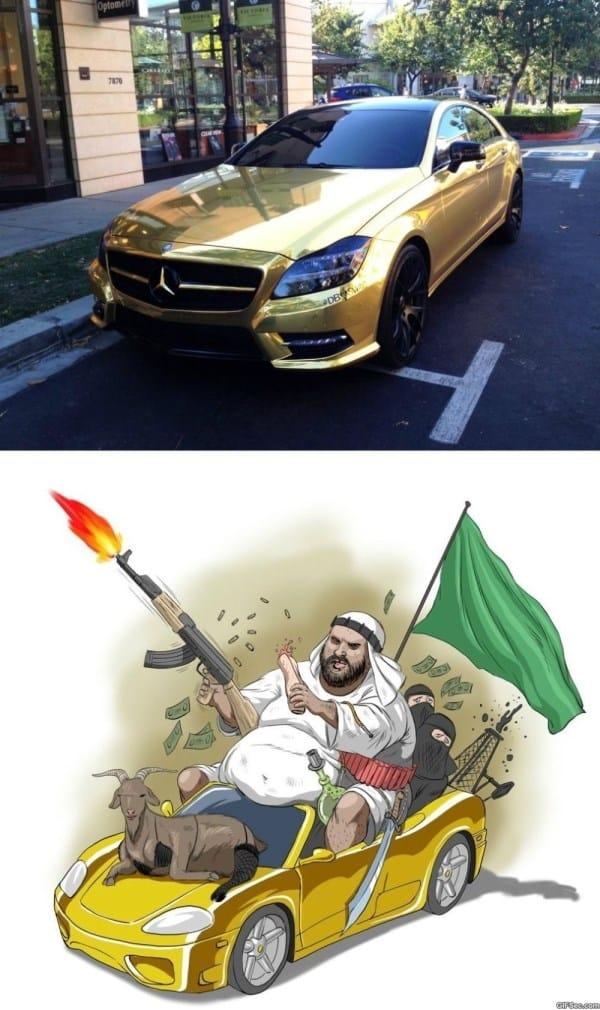 Funny Golden Mercedes MEMES