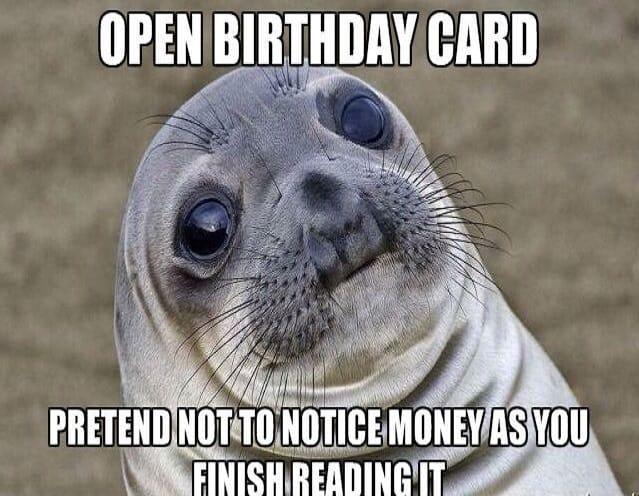 Open a birthday card