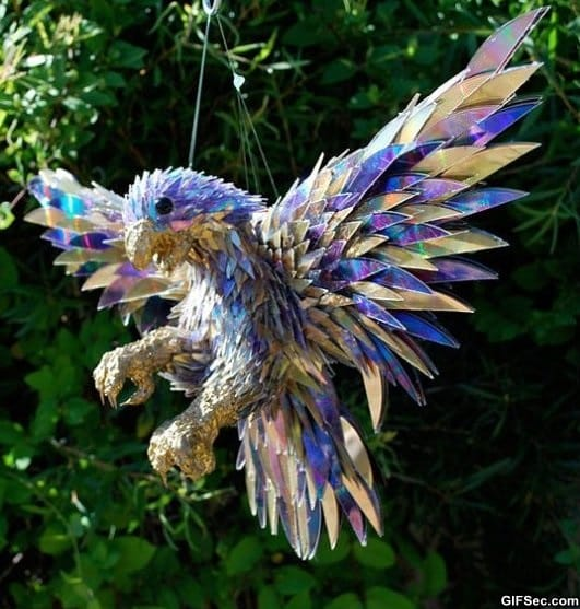 falcon-made-from-shattered-cds