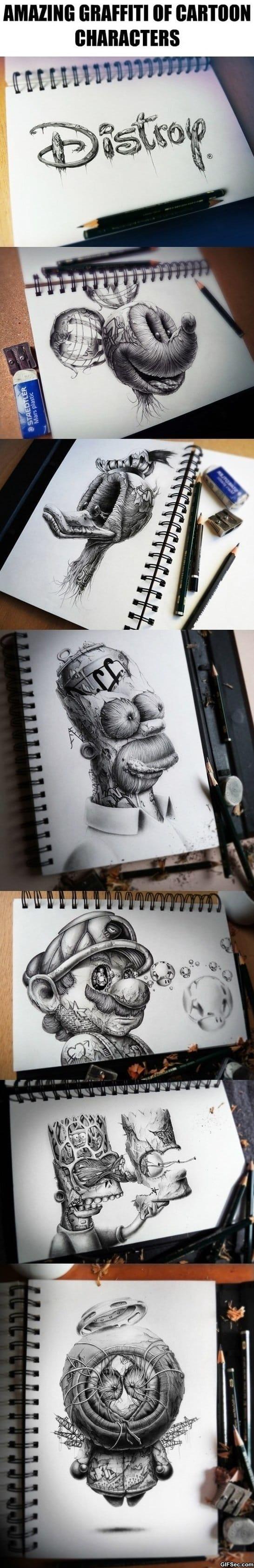 funny-lol-amazing-graffiti-of-cartoon-characters