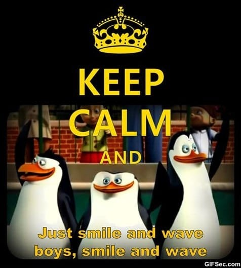 lol-keep-calm-and-smile-and-wave