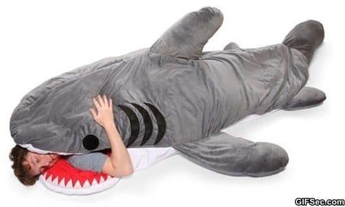 shark-sleeping-bag