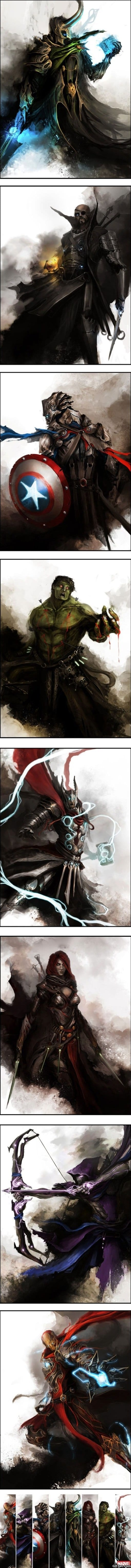 the-avengers-medieval-fantasy-style