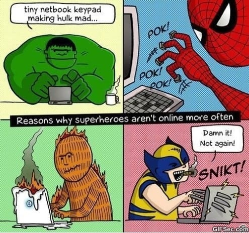Reasons Why Superheroes Arent Online More Often MEME