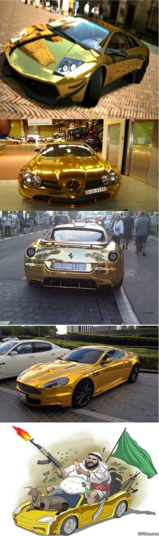 Gold Cars MEME