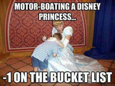 Motor boating a disney princess – lol
