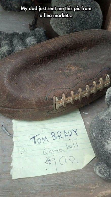 Tom Brady's game ball
