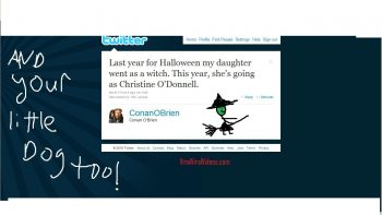 Conan O'Brien Twitter Makes Fun Of Christine O'Donnell