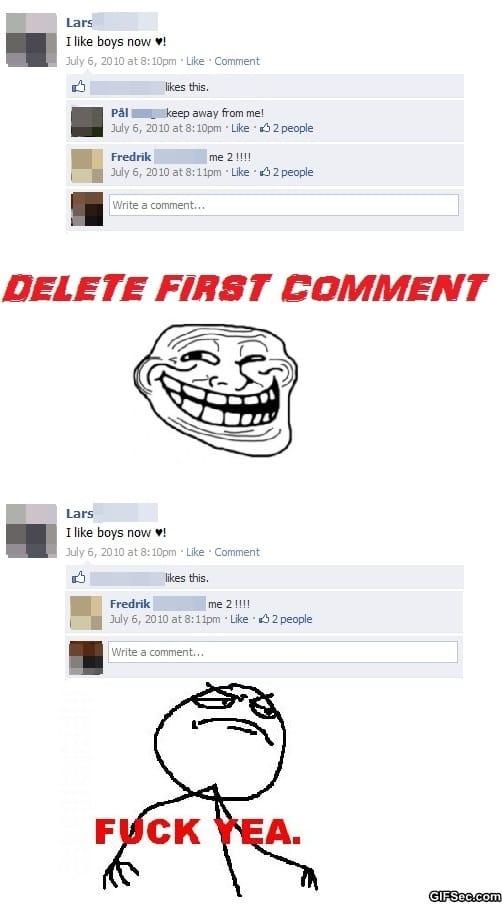 Funny Meme Facebook Comments : Facebook trolling quotes quotesgram