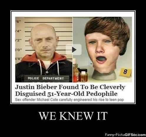 Justin Bieber Sucks on Justin Bieber   We Knew It    Meme  Funny Pictures And Lol