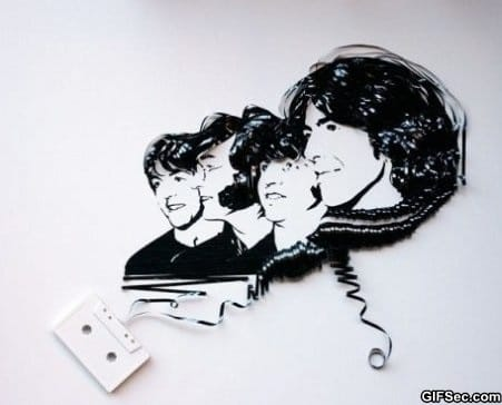 beatles-cassette-tape-art