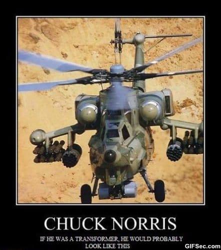 Chuck norris vs transformers