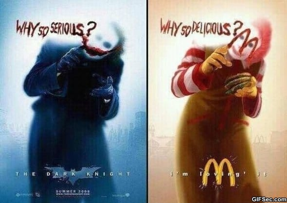 Joker vs. Mcdonalds