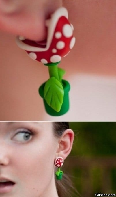 piranha-plant-earrings