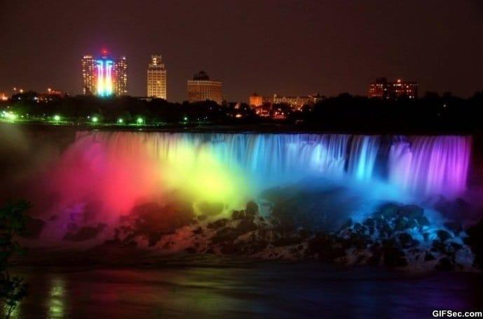 Rainbow Niagara Falls meme lol memes