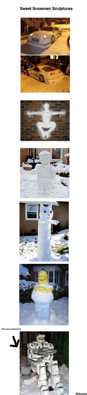 snowman-sculptures