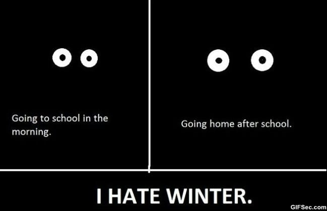Why i hate Winter