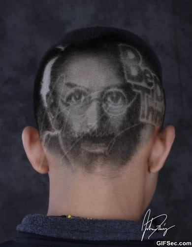 Steve Jobs Hair Cut 02