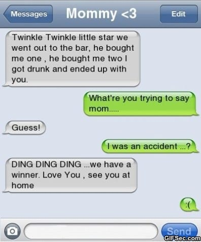 Funny Iphone Sms Best Mom Ever