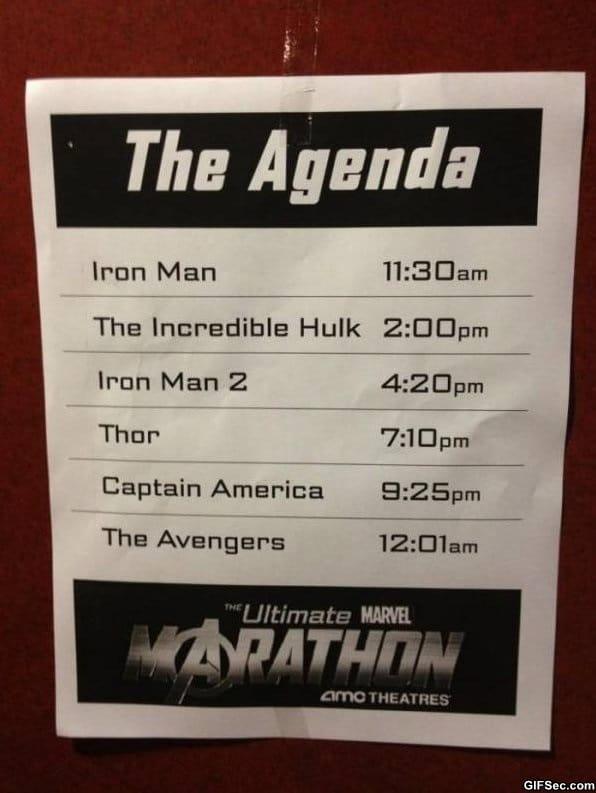 Avengers agenda best day ever
