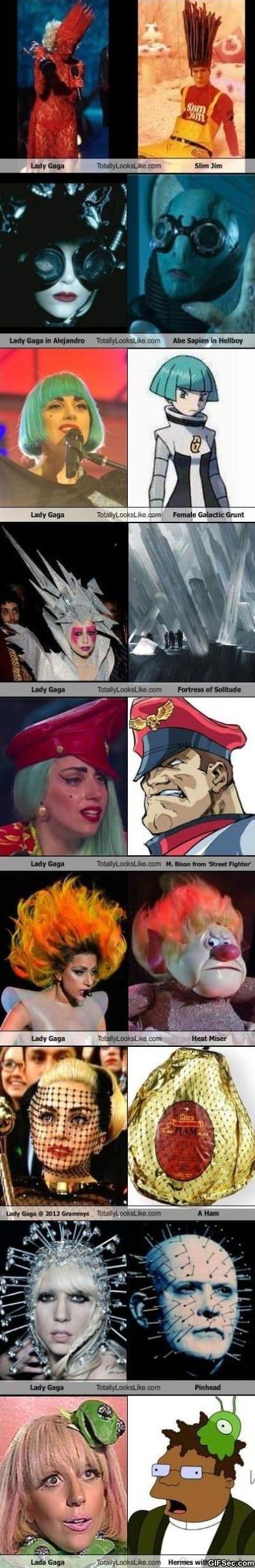 Lady Gaga alook a likes