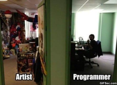 Artist vs Programmer