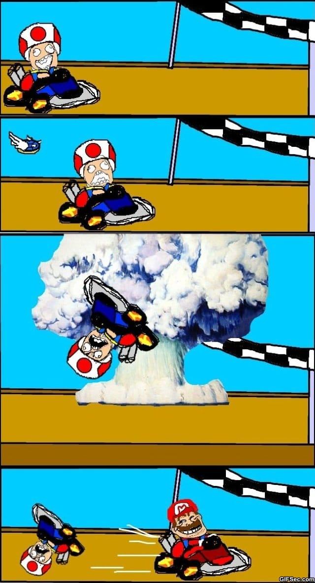 Everytime I play Mario Kart
