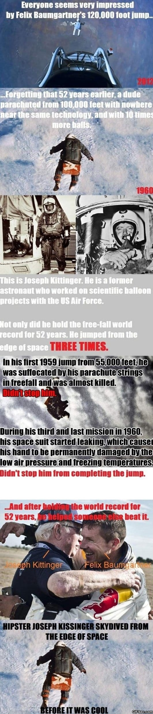Felix Baumgartner vs. Joseph Kittinger
