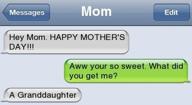 Text Message - Happy Mothers Day