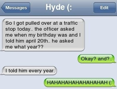Text Message - How To Troll A Cop