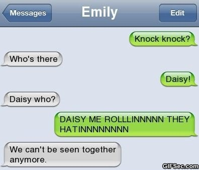 Text Message - Knock Knock