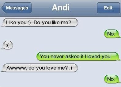 iPhone SMS - Do you love me