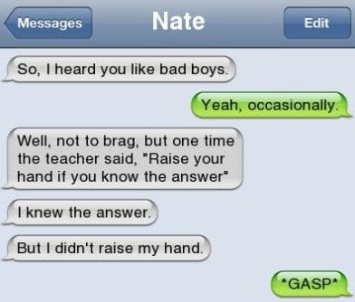 iPhone SMS - Girls Like Bad Boys Like This Guy