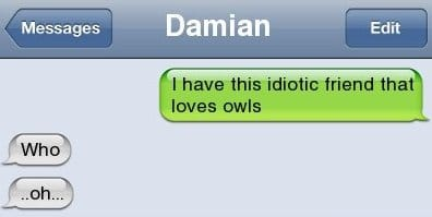 iPhone SMS - Owls