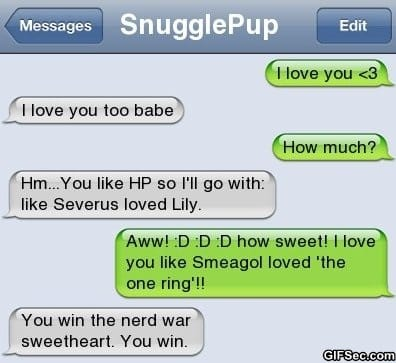 iPhone SMS - You win the Nerd war