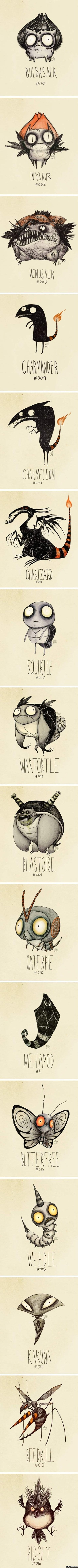 Pokemon as Drawn by Tim Burton