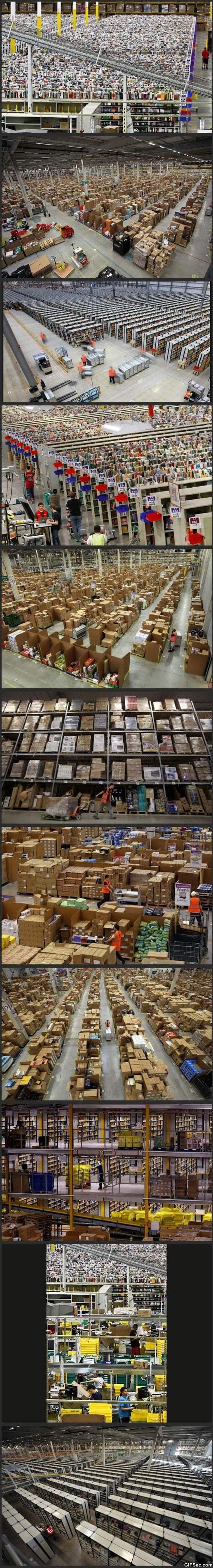 What it looks like inside Amazon