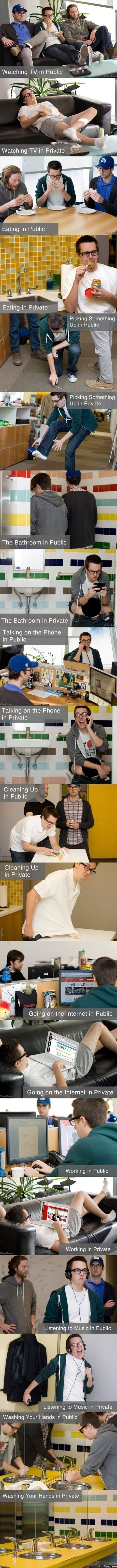 Funny Pictures - Being With People vs. Being Alone