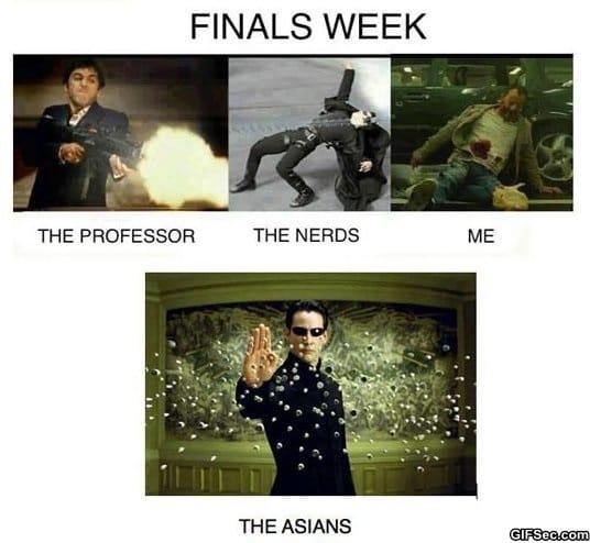 Finals Week Meme Matrix funny-pictures-how-finals-week
