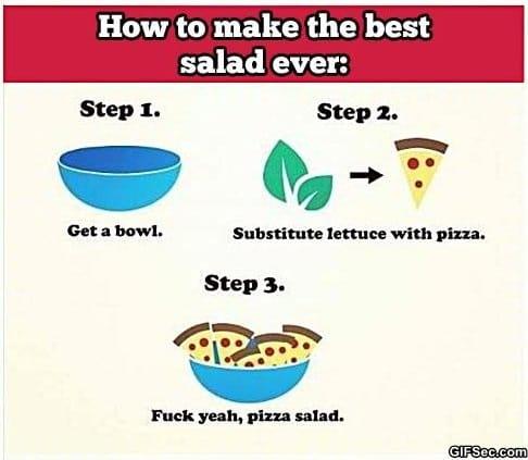 LOL – Pizza Salad