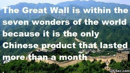 LOL - The Great Wall of China
