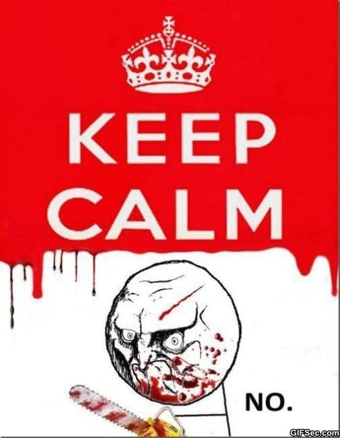 Meme keep calm no