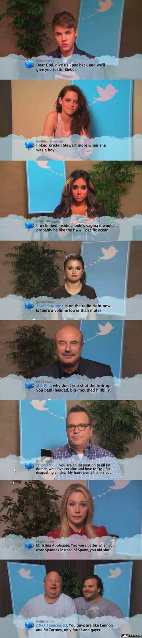 LOL - Celebrities read mean tweets about them